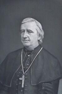 REVEREND-JOHN-WILLIAMS-Archbishop-of-Boston-Portrait-1889-Antique-Print