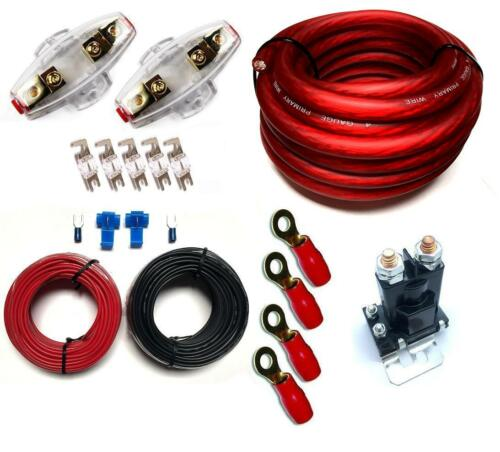 WIRING KIT DUAL BATTERY CHARGE ISOLATOR PL FUSES AND FUSE HOLDER 150A 80A