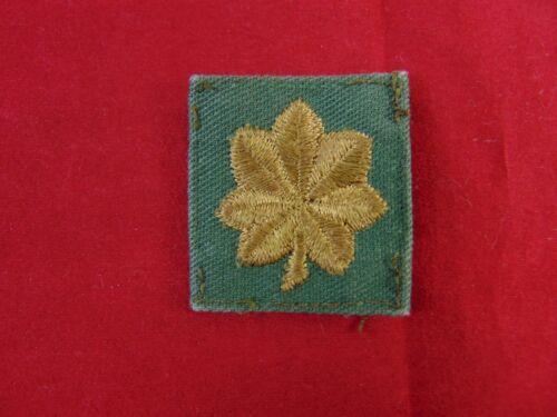 U.S Army Major OD Green Rank Insignia Collar Patch Uniform Removed