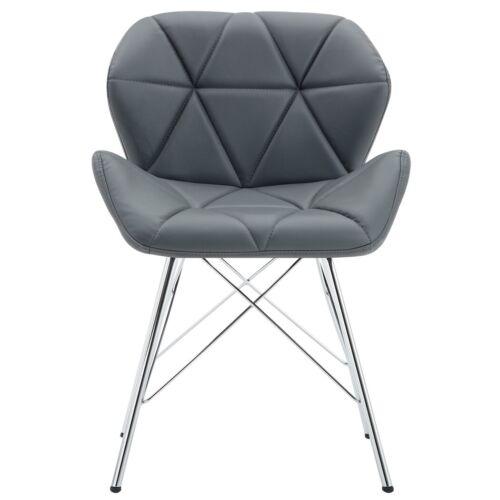 2er Set Stuhl Esszimmerstuhl Stoff Samt oder Lederoptik Küchenstuhl Metallbeine