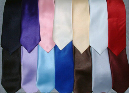 """TOP QUALITY BOYS CHILDRENS 45/""""  LONG TIES TIE LOTS OF COLOURS BRAND NEW"""