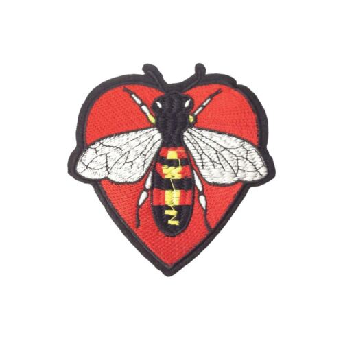 Iron On Bee Heart L Embroidery Applique Patch Sew Iron Badge