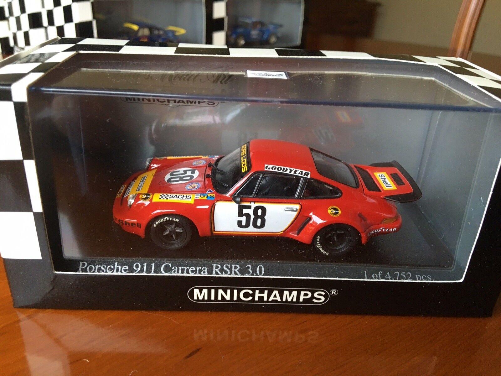 Minichamps Porsche 911 Carrera RSR 3.0. Le Mans 1975. 1 43 scale diecast.