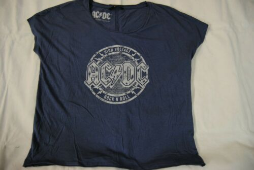AC//DC HIGH VOLTAGE ROCK N ROLL LADIES WOMENS T SHIRT BNWT OFFICIAL ONLY BRAND