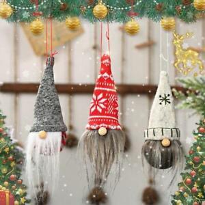 AU/_ Christmas Faceless Gnome Santa Long Legs Xmas Tree Hanging Ornament Doll Dec