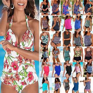 59ac507a01 Image is loading Womens-Summer-Swimming-Costume-Swimsuit-Tankini-Beach- Swimwear-