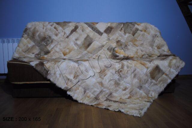 Real Genuine Blanket Fur , bedspread, Throw ,Rugs , Cover, Natural Fur