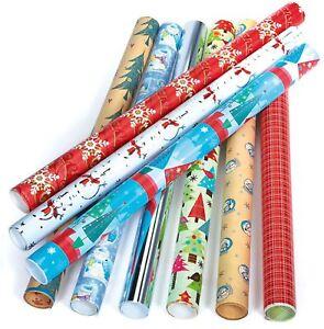 5 X Shiny Metallic Christmas Birthday Present Wrapping Foil Paper Gift