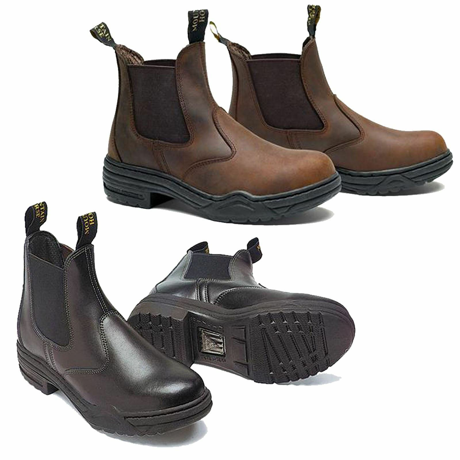 Mountain Horse  Stable Ladies Mens Soft Equestrian Leather Rider Jodhpur Boots  convenient
