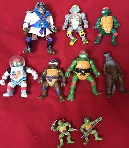 vintage-Playmate-TMNT-LOT-7-Tortues-Ninja-Turtles-action-figures
