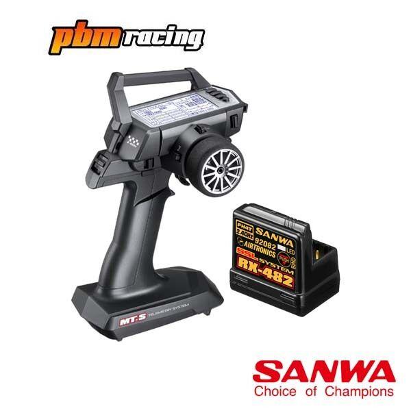 migliori prezzi e stili più freschi Sanwa-S RC MT AUTO 2.4Ghz Trasmettitore con un ricevitore ricevitore ricevitore RX-482 SA101A31971A  a prezzi accessibili