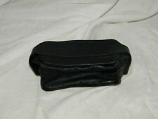 Vintage Lufthansa Toiletry Travel Cosmetic Bag Case Black Faux Leather 18221