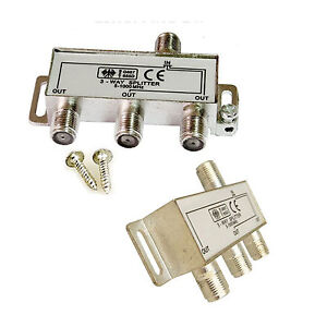 3 way aerial cable tv coaxial antenna satellite dc pass signal splitter diplexer. Black Bedroom Furniture Sets. Home Design Ideas