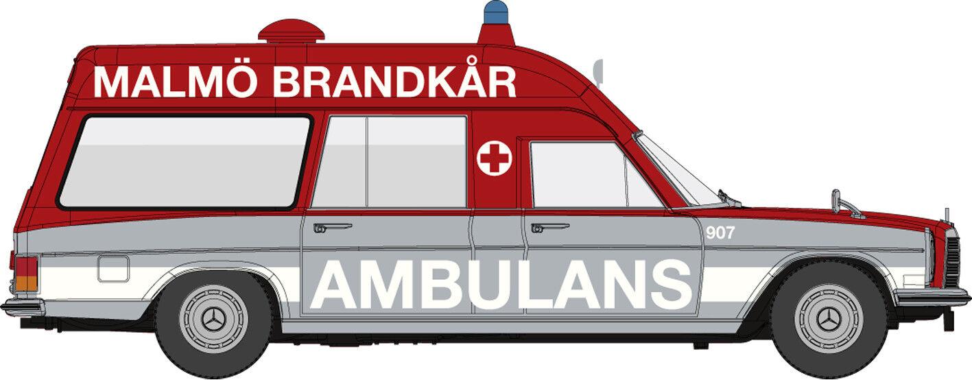 MB 8 Ktw   Ambulans Malmö 907   Starmada, H0 Car Model 1 87, Brekina 13816