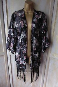 086fc293438dd Image is loading Topshop-Oriental-Floral-Tassel-Kimono-Cardigan -Oversize-Festival-