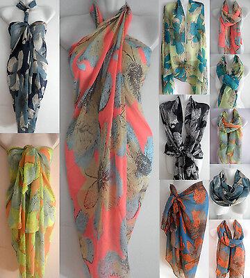 NEW Sexy Pareo Wrap Dress Sarong Beach Swimwear Cover Up Sunblock Bikini Scarf