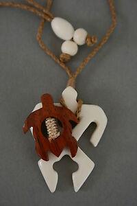 Liberal Bone Carving Surfer Mit Schildkröte Gute WäRmeerhaltung