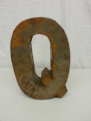 "12/"" N Recycled Metal Tin Block Letter Industrial Salvage Rustic Vintage Marquee"
