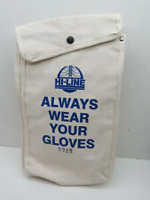 Hi Line 5965 Canvas Storage Bag For Low Voltage Electrician Gloves With Clip