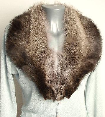 Collo Pelliccia Procione Uomo Pelliccia Raccoon Guarnizione Con Cucire Realizzerà Marrone Naturale-mostra Il Titolo Originale