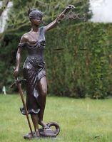 Bronze,Figuren,Statuen,Gartenfigur,Dekor,Garten,162cm.Statue,Justitia