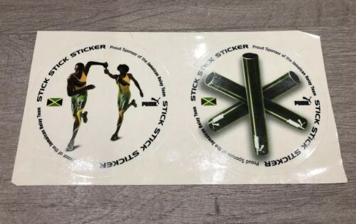 "Jamaica bâton"" Athletics Sticker de Usain Rare Puma fenêtre Bolt ""bâton bâton 4RqWXzF"