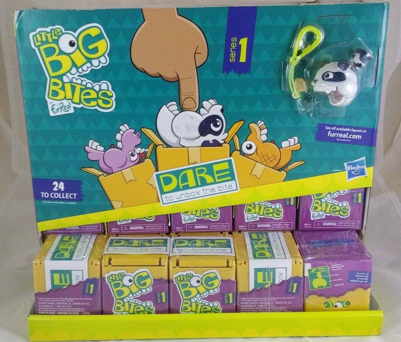 Lot of 25 Little Big Bites by FurReal Series 1 Brand New w Display Sealed