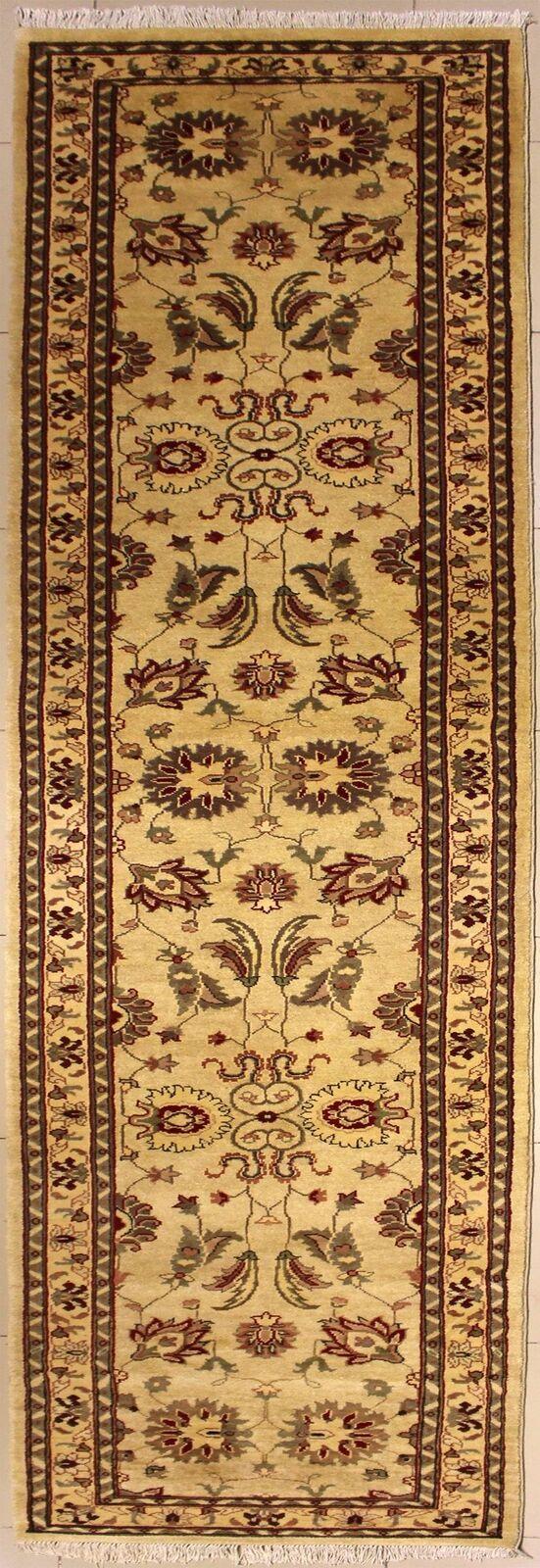 Rugstc 3x10 Senneh Chobi Ziegler Weiß Weiß Weiß Runner Rug,Natural dye,Hand-Knotted,Wool 61624e