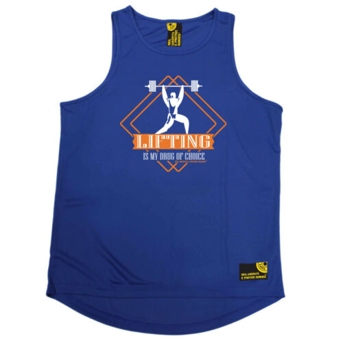 Gym Bodybuilding Vest Funny Mens Sports Performance Singlet Lifting Drug Of Ch