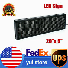 20x 5 P8 Full Color Led Sign Programmable Scrolling Message Board Semi Outdoor