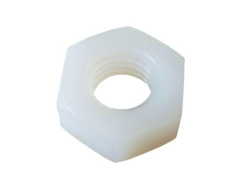0,35€//1PR 10 x Sechskant Schraube und Mutter Kunststoff  M8 20mm weiss
