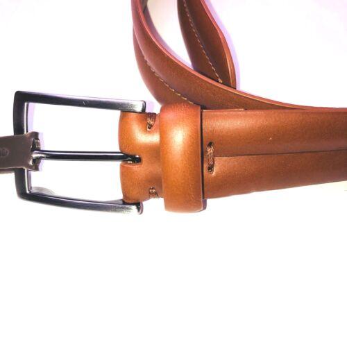 Trafalgar Tan Full Grain Leather Mid Stitch Dress Belt Mens NWT 34//40//42