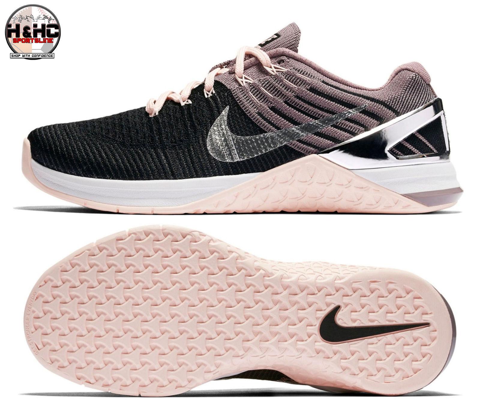 Nike Nike Nike Metcon DSX FK Bionic 904659 001 Black Chrome Women's Training shoes Sz 14 6e702f