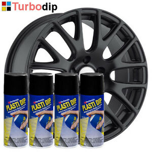 pack jantes plastidip plasti dip 4 bombes de peinture spray noir mat performix ebay. Black Bedroom Furniture Sets. Home Design Ideas