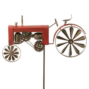 Tubina eolica jardín metal tractor camión rojo gartendeko viento juego doble tubina eolica