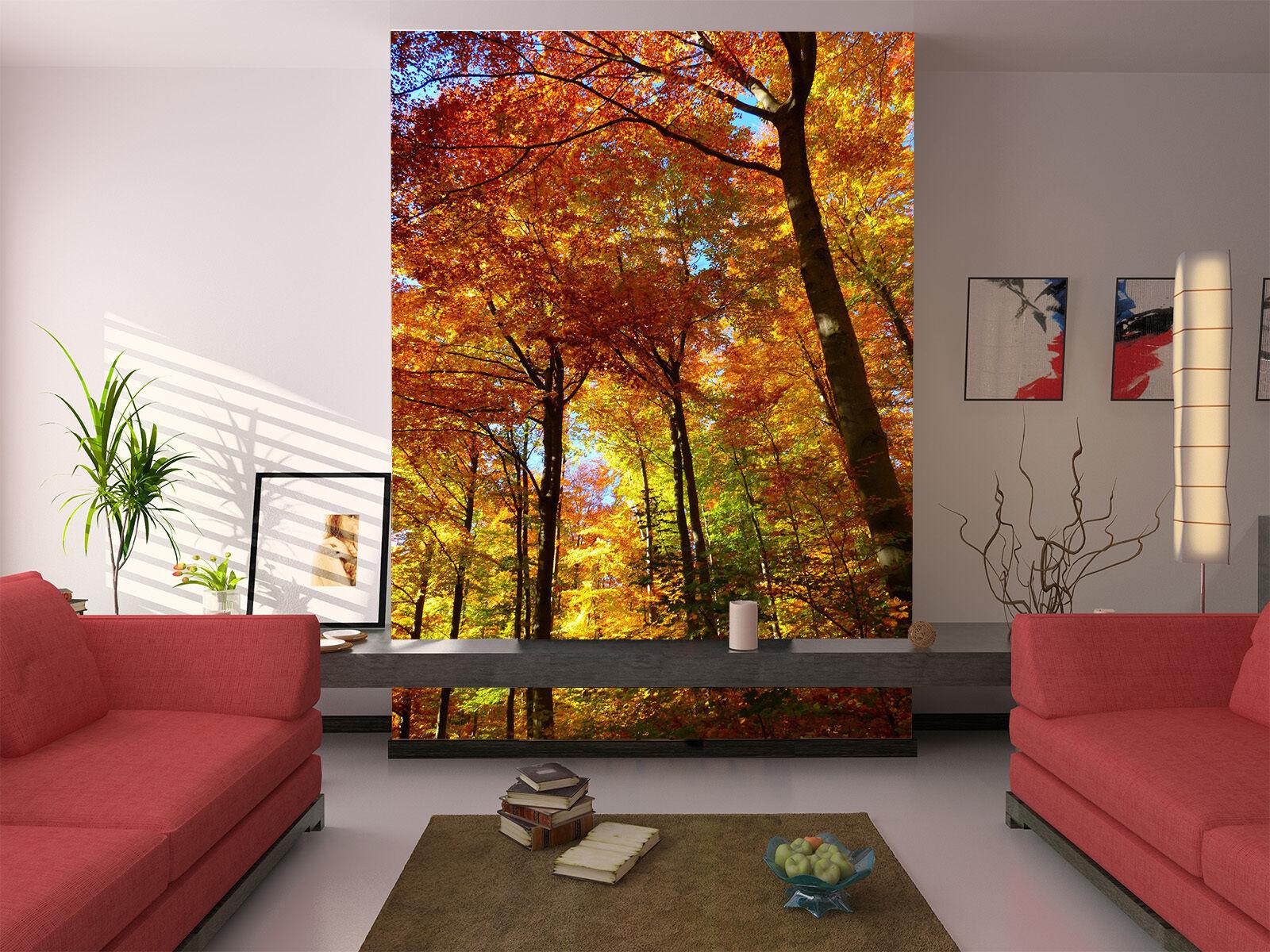3D Beautiful Forest Trees 94 Wallpaper Decal Decor Home Kids Nursery Mural  Home