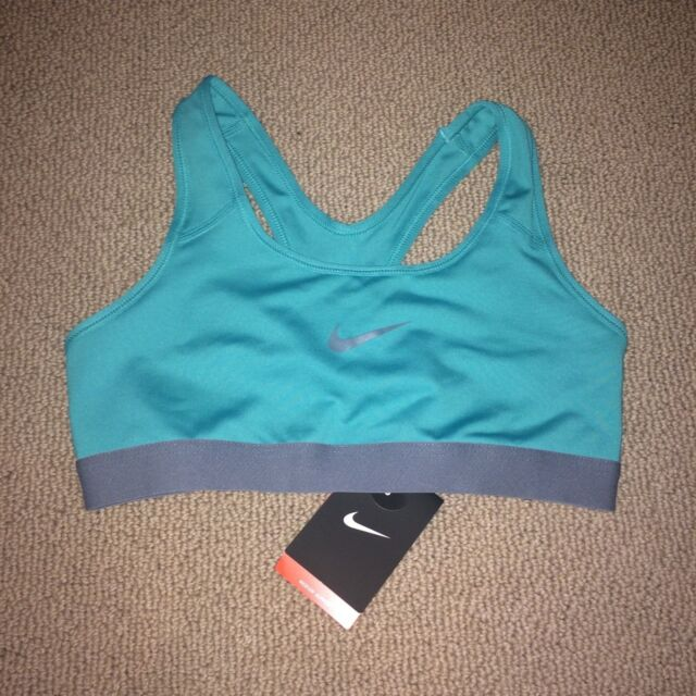 36611dee7ba33 Nike Pro Classic Sports Bra 650831-405 Teal gray Small