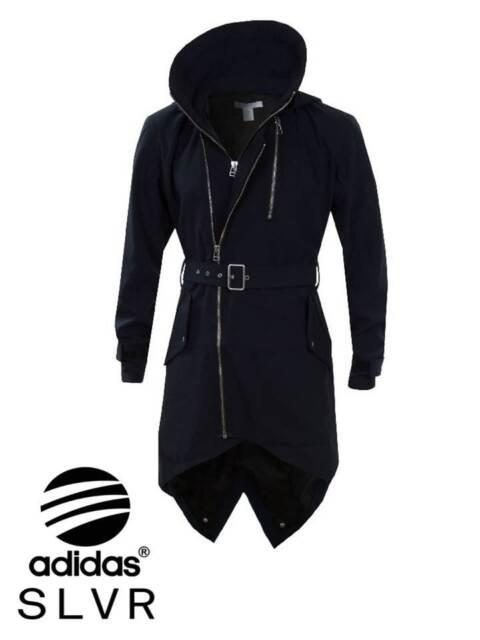 BNWT Mens ADIDAS SLVR Fishtail Parka Coat Jacket Trench D Navy £180 Parker Hood
