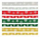Grosgrain Christmas Ribbon 3 metres - Snowflake design