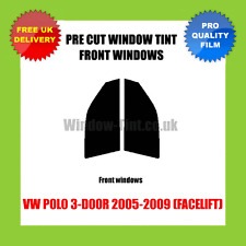 VW POLO 3-DOOR 2005-2009 (FACELIFT) FRONT PRE CUT WINDOW TINT KIT