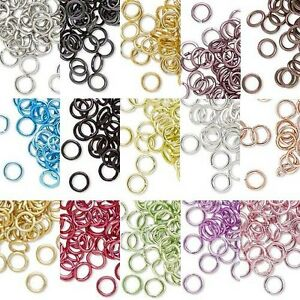 Lot-of-100-5mm-20-Gauge-Bright-Colored-Aluminum-Open-Round-Jumprings-Jump-Rings