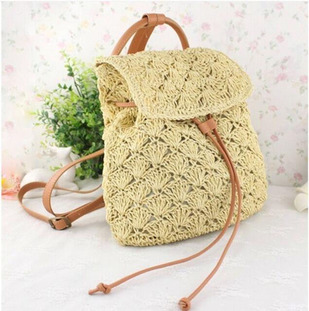 Women Fashion Beach Vacation Straw Bag Tote Shoulder Bag Backpack WBG895