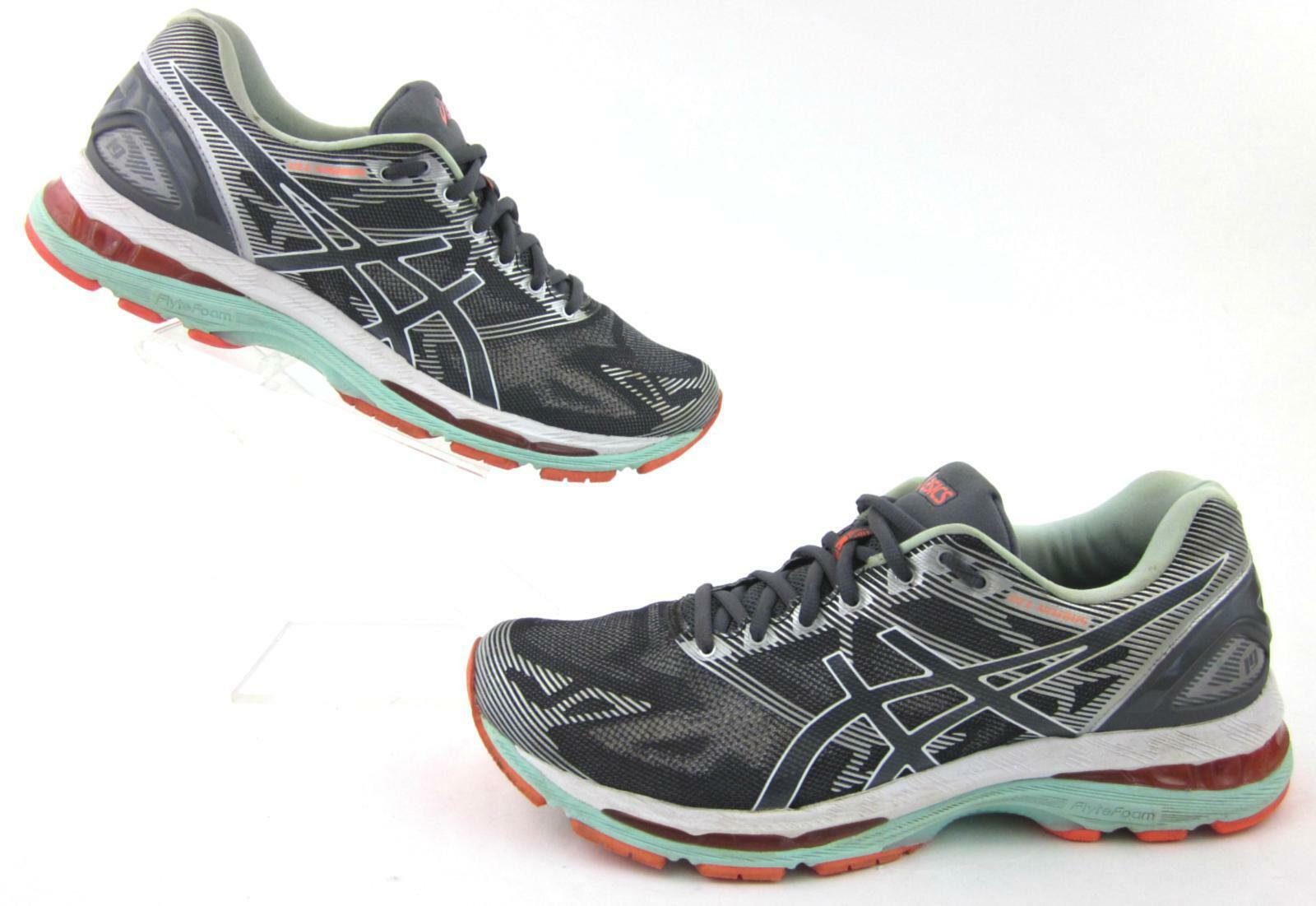 Asics Gel-Nimbus 19 Running shoes Carbon   White   Flash Coral US 11