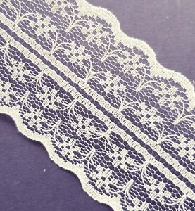 Cream-Vintage-Lace-Ribbon-Wedding-Trim-1m-x-45mm-Wide-For-Card-Craft-Sewing