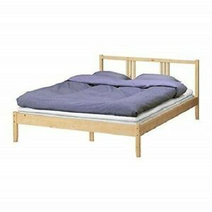 Rete Per Letto Matrimoniale Ikea.Dettagli Su Letto Ikea Fjellse Struttura Rete A Doghe 140x200 Cm Legno Pino Massiccio