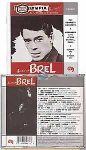 Jacques-Brel-A-L-039-olympia-1961-1964-CD-ALBUM-2cd-import-usa