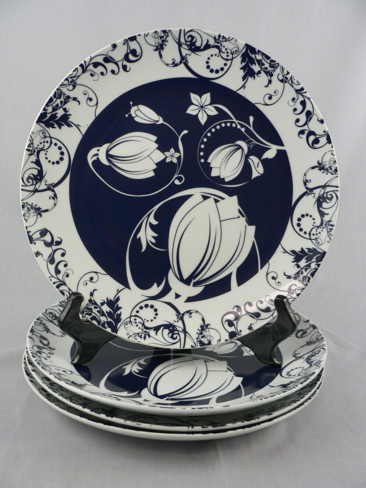 Slimware Dinner Plates Graphically Designed Portion Control Blaubelle Design