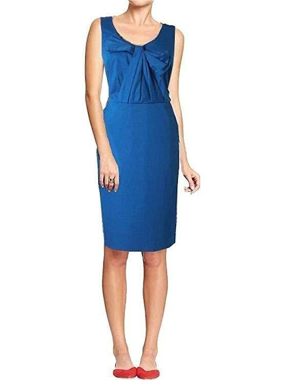 NEW Boden bluee  Beautiful Bow Front  Dress Size US 14 L