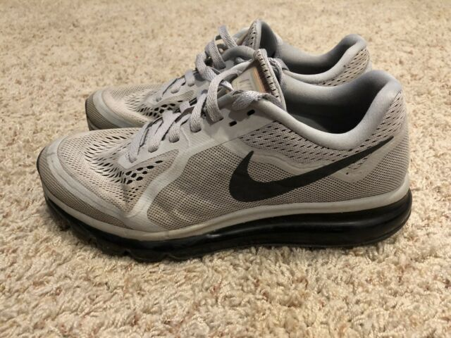 Nike Air Max 2014 Wolf Grey Mens Size 8 Sneakers Shoes Running Athletic Gray