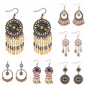 Retro-Ethnic-Boho-Dangle-Drop-Hook-Earrings-Women-Bridal-Wedding-Party-Jewelry